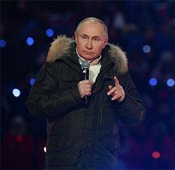 Владимир Путин выступил на праздничном мероприятии в Лужниках