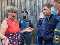Евгений Куйвашев в Верхней Салде заявил о необходимости ускорить выплаты людям из подтопленных домов и на месте дал ещё ряд поручений штабу